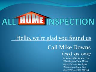 ALL  HOME INSPECTION