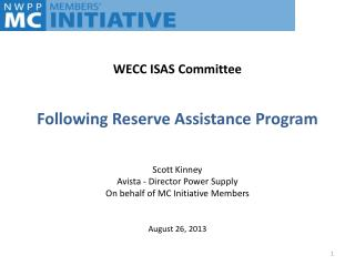 Following Reserve Assistance Program