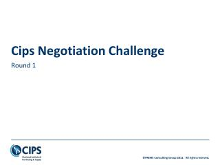 Cips Negotiation Challenge