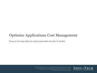 Optimize Applications Cost Management