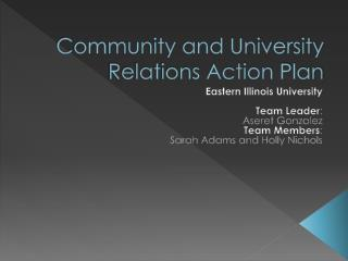 Community and University Relations Action Plan