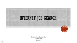 INTERNET JOB SEARCH