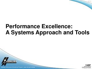 Baldrige Performance Excellence Program | www.nist.gov/baldrige