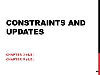 Constraints and Updates