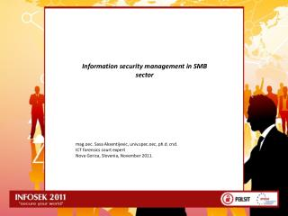 Information security  management  in SMB sector