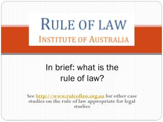 In brief: what is the rule of law?