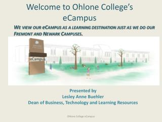 Welcome to Ohlone College's eCampus