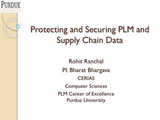 Protecting and Securing PLM and Supply Chain Data