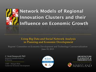 Network Models of Regional Innovation Clusters and their Influence on Economic Growth