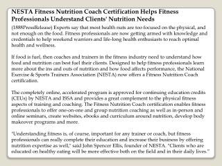 nesta fitness nutrition coach certification helps fitness