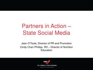 Partners in Action –  State Social Media