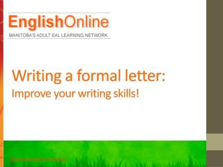 Writing a formal letter: Improve your writing skills!
