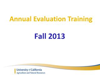 Annual Evaluation Training