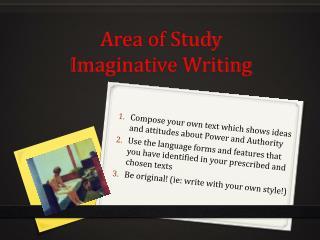 Area of Study Imaginative Writing