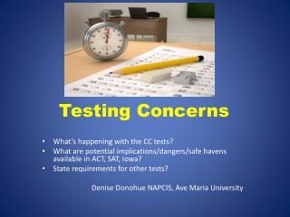 Testing Concerns