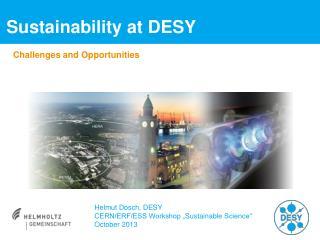Sustainability at  DESY