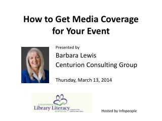 How to Get Media Coverage  for Your Event