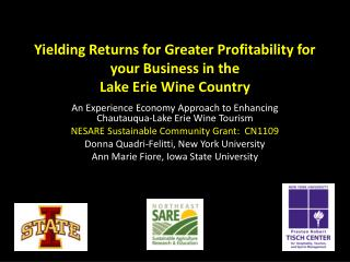 Yielding Returns for Greater Profitability for your Business in the  Lake Erie Wine Country