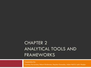 Chapter 2 Analytical Tools and Frameworks