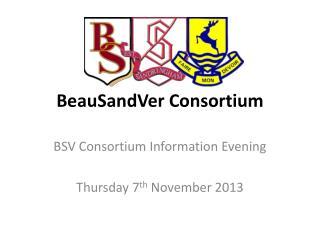 BeauSandVer  Consortium