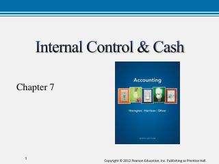 Internal Control & Cash