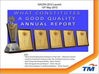 NACRA 2012 Launch 15 th  May 2012