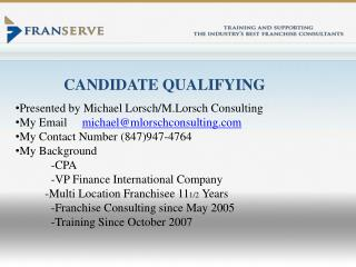 CANDIDATE QUALIFYING