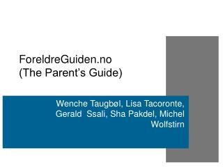 ForeldreGuiden.no  (The Parent's Guide)