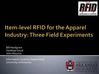 Item-level RFID  f or the Apparel Industry: Three Field Experiments