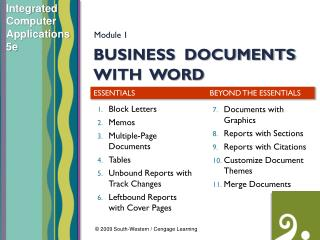 Business  Documents with  Word