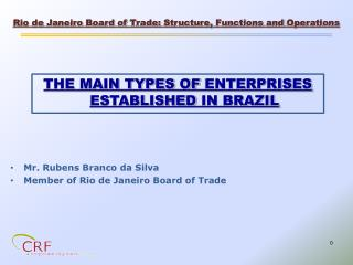 THE MAIN TYPES OF ENTERPRISES ESTABLISHED  IN BRAZIL