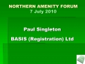 northern amenity forum 7 july 2010
