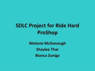 SDLC Project for Ride Hard ProShop