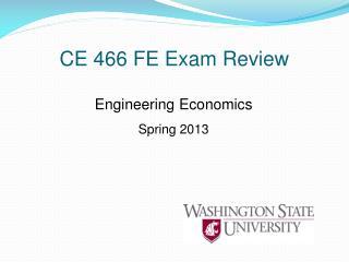 CE 466 FE Exam Review