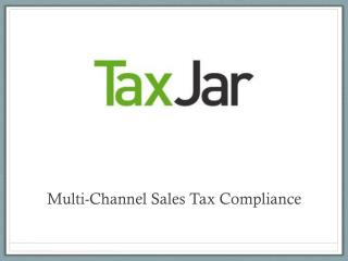 Multi-Channel Sales Tax Compliance