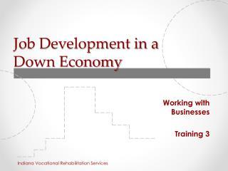 Job Development in a  Down Economy
