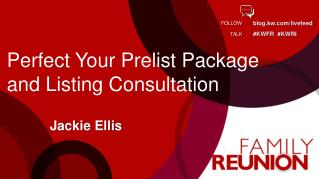 Perfect Your Prelist Package and Listing Consultation