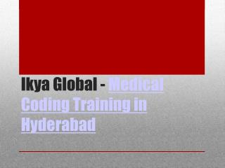 Medical Coding Training Institute Hyderabad