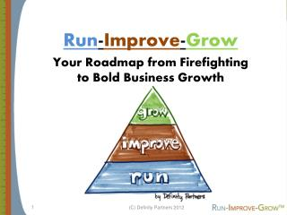 Run - Improve - Grow Your Roadmap from Firefighting  to Bold Business Growth