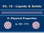 ii. physical properties  p. 363 - 371