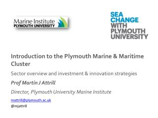 Introduction to the Plymouth Marine & Maritime Cluster Sector overview and investment & innovation strategies Prof Mart