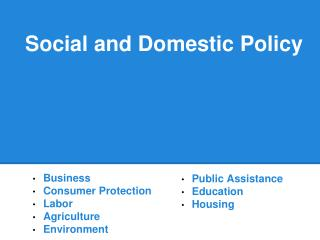 Social and Domestic  Policy