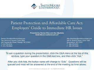 patient protection and affordable care act: employers