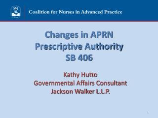 Changes in APRN  Prescriptive Authority SB 406