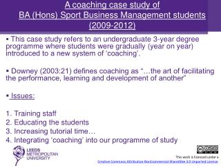 This case study refers to an undergraduate 3-year degree programme where students were gradually (year on year) introdu