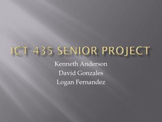 ICT 435 Senior Project