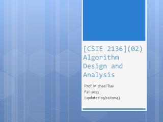 [CSIE 2136](02) Algorithm Design and Analysis