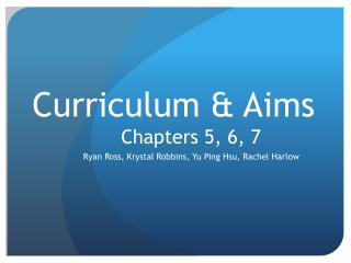Curriculum & Aims