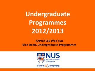 Undergraduate Programmes 2012/2013
