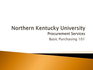 Northern Kentucky University  Procurement Services